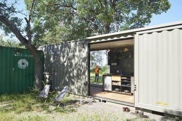 美国集装箱货柜改造 变身狩猎爱好者专用基地 -  www.shouyihuo.com