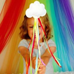 不织布做仙女棒的方法 布艺云朵仙女棒DIY教程
