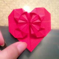 心花怒放爱心的折法 折纸心花怒放图解教程