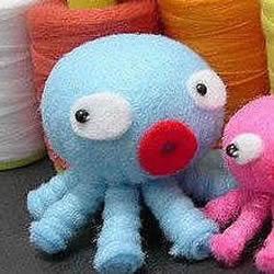 不织布可爱章鱼的做法 布艺手工制作章鱼玩偶