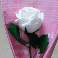 皱纹纸做玫瑰花的过程 简易皱纹纸玫瑰做法