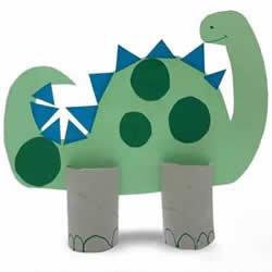 幼儿手工制作恐龙教程 卷纸筒做恐龙的方法