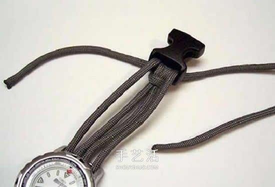 伞绳表带的编织方法 用伞绳编织表带的图解 -  www.shouyihuo.com