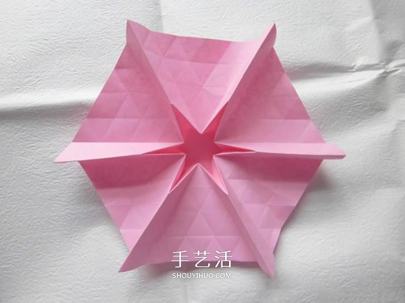 漂亮草帽子的折法图解 折纸花草帽的方法步骤图片