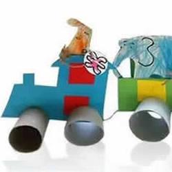 动物火车的制作方法 卷纸筒做小动物火车