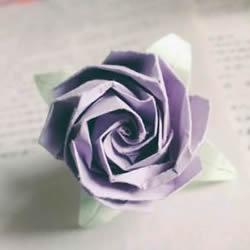 贝利尔玫瑰的折法图解 怎么折纸贝利尔玫瑰