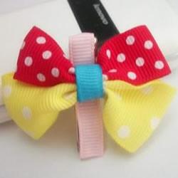 儿童蝴蝶结发饰教程 自制给孩子用的发卡图解