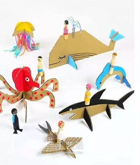 幼儿废物利用手工作品 简单环保小制作图片