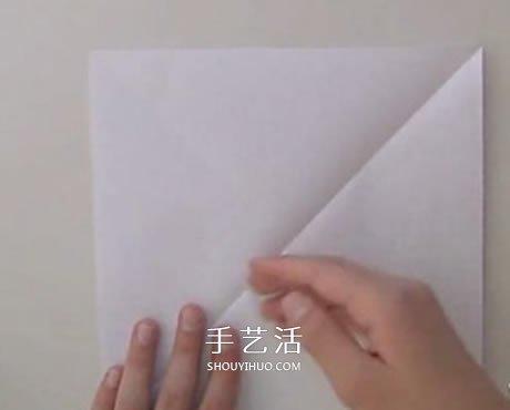 扁平玫瑰花的折法图解 组合式平玫瑰折纸教程 -  www.shouyihuo.com