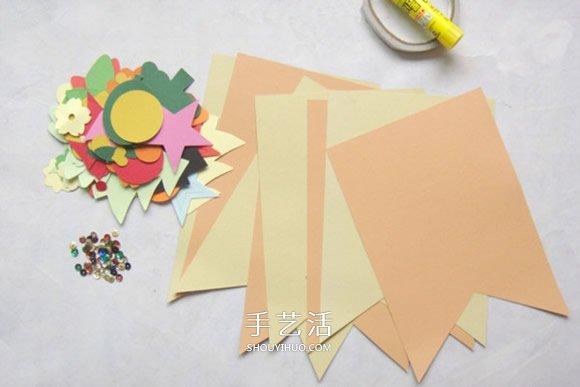 幼儿园教室彩旗制作 自制装饰挂旗的方法教程