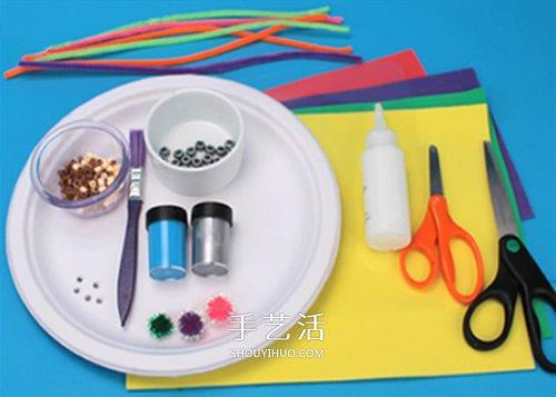 餐盘废物利用小制作 diy成海底世界装饰品