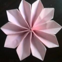 简单雪花的折叠方法 手工折纸雪花的图解教程
