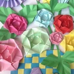简单蔷薇花的折法图解 怎么折纸蔷薇花的方法
