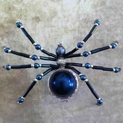 手工串珠蜘蛛的做法 串珠蜘蛛工艺品DIY制作