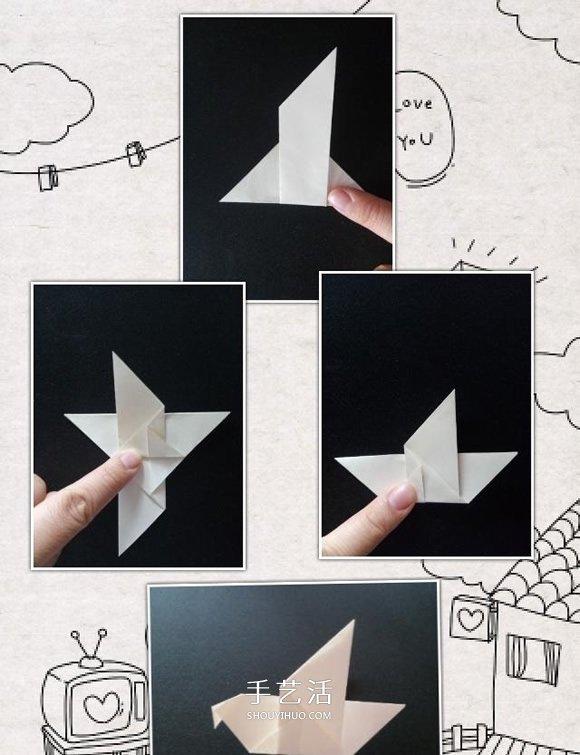 简单和平鸽的折纸方法 儿童折纸和平鸽图解图片