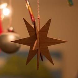 浪漫星光装饰手工制作 木板制作星星挂饰教程
