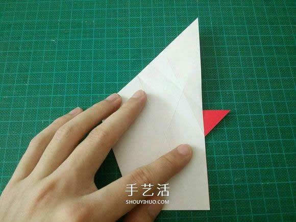 圣诞鹤的折法图解教程 折纸圣诞纸鹤的方法