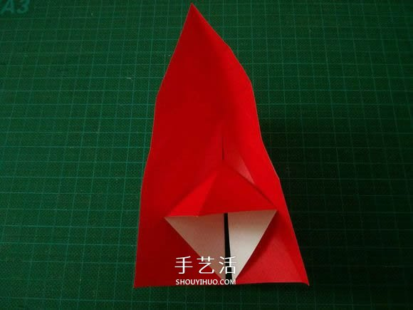 圣诞鹤的折法图解教程 折纸圣诞纸鹤的方法_手艺活网