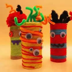 万圣节小怪物手工制作 卷纸筒做小怪物的方法