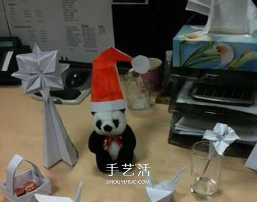 折纸圣诞帽的方法图解 简单圣诞帽的折法步骤