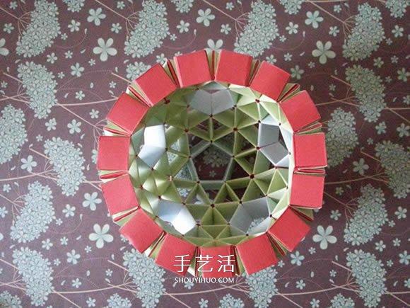 手工折纸snapology球 用纸条折球体步骤图解