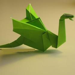 手工折纸翼龙的步骤图 翼龙的折法图解过程