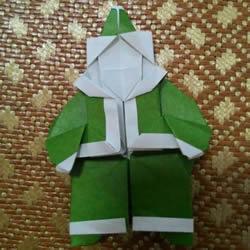 圣诞老人折纸步骤图解 纸折圣诞老人怎么折