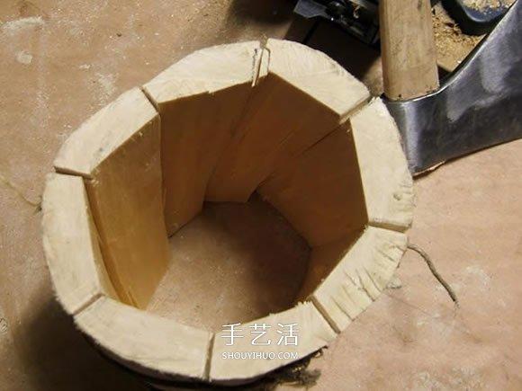原木制作粗犷啤酒杯 自制大号啤酒杯的过程 -  www.shouyihuo.com
