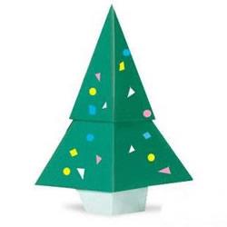 用一张纸折圣诞树图解 幼儿折纸圣诞树的教程