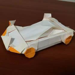 复杂立体跑车的折法 详细折纸跑车图解步骤