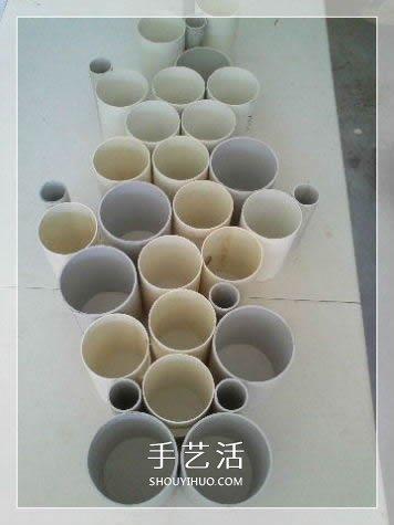 PVC管制作园艺雕塑教程 自制PVC管雕塑的方法 -  www.shouyihuo.com