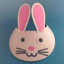 兔子帽子手工步骤图解 卡纸手工制作兔子帽子