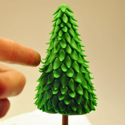 简单粘土圣诞树的做法 DIY超轻粘土圣诞树图解