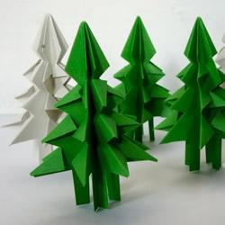 怎样折立体圣诞树图解 儿童立体圣诞树的折法
