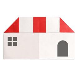 幼儿园折纸小房子图解 简单小房子的折法教程