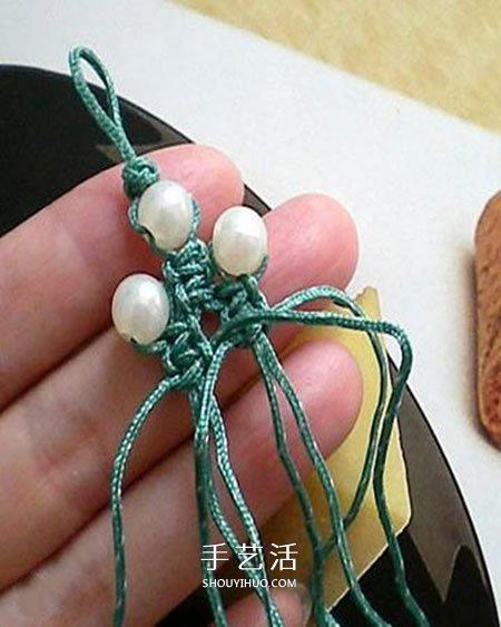 圣诞树小挂件的编法 手工编织圣诞树挂饰图解