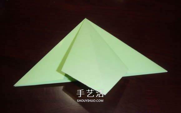 手工鹤舞折纸图解教程 立体纸鹤的折法过程