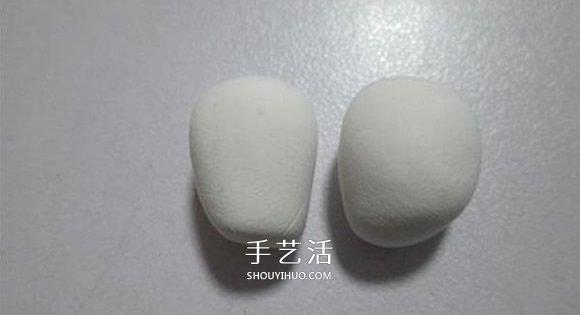手工制作粘土大白图解 超轻粘土大白DIY教程 -  www.shouyihuo.com
