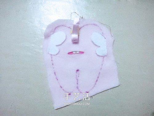 可爱牙宝宝布偶DIY 布艺牙齿宝宝玩偶制作 -  www.shouyihuo.com
