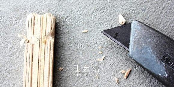 雪糕棍DIY爱心小礼物 自制情人节爱心礼物教程 -  www.shouyihuo.com