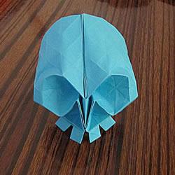 骷髅头的折纸方法图解 怎么折骷髅头的过程