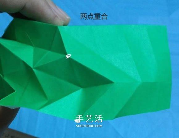 手工小猫的折纸步骤图 可爱小猫的折法图解