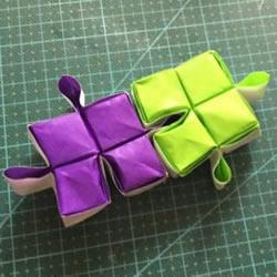 拼图零片的折纸方法 手工折纸拼图的图解教程