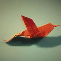 简单蜂鸟的折纸方法 手工折纸蜂鸟图解教程
