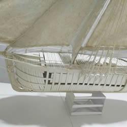 纸制单桅帆船模型制作 精致卡纸帆船手工制作