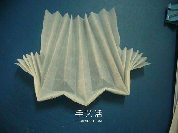 龙头戒指的折纸方法 手工折纸龙头戒图解教程