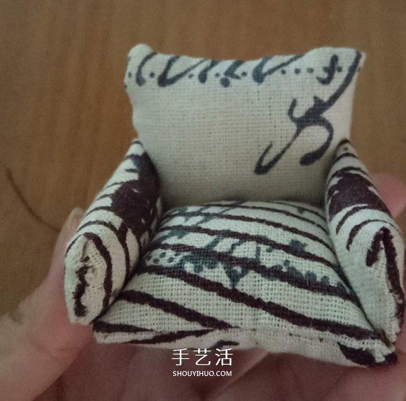 不织布扶手沙发模型DIY 迷你单人沙发布艺制作 -  www.shouyihuo.com