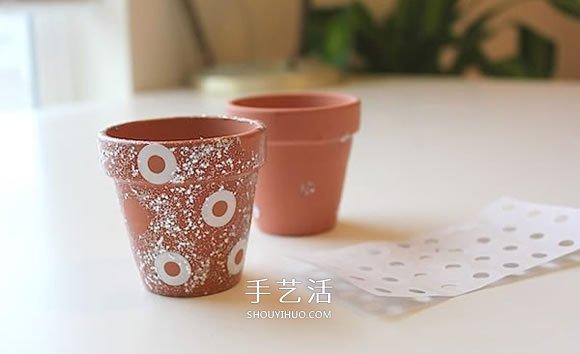 指甲油改造小陶盆图解 多肉花盆的改造方法 -  www.shouyihuo.com