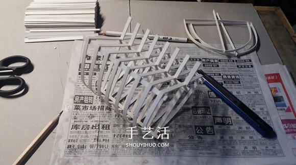 纸制单桅帆船模型制作 精致卡纸帆船手工制作 -  www.shouyihuo.com