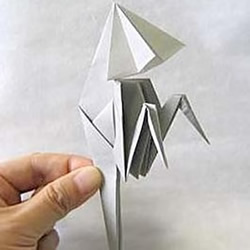 怎么折纸幽灵的方法 万圣节折纸幽灵图解教程